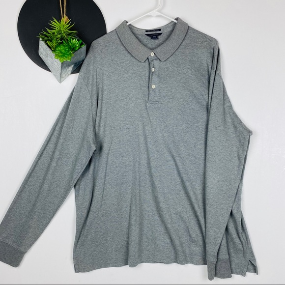 Lands' End Other - Lands End Long Sleeve Polo Gray XXL